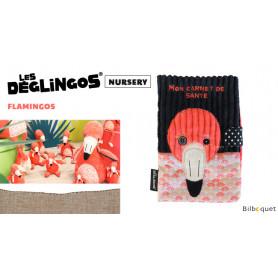 Protège carnet de santé Flamingos Le flamant rose - Déglingos Nursery