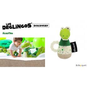 Maracas à machouiller Aligatos l'Alligator - Déglingos Musicos