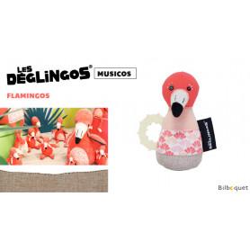 Maracas à machouiller Flamingos Le flamant rose - Déglingos Musicos