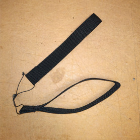 A pair of black straps