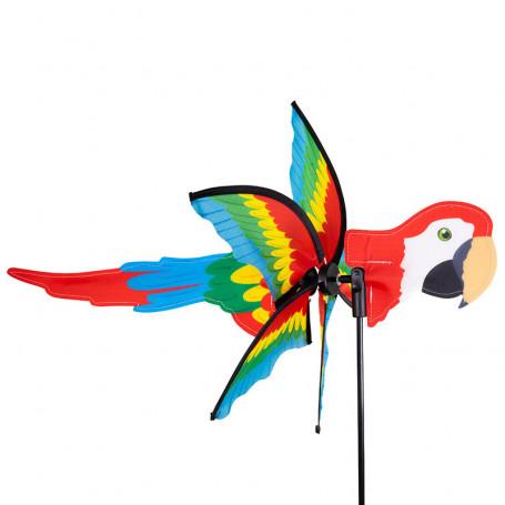 Éolienne 2 en 1 - Oiseau Perroquet