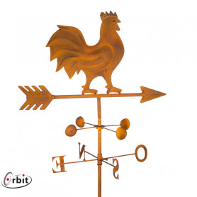 Rooster metal weather vane - rusty finish