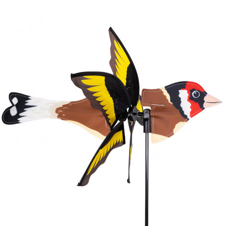 Éolienne 2 en 1 - Oiseau Chardonneret