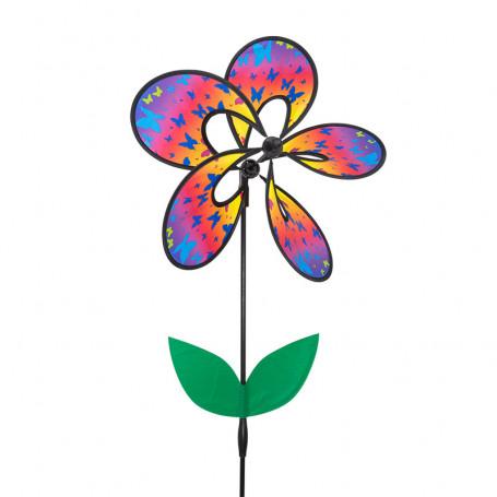 Éolienne fleur magique papillon