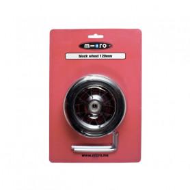 Roue avant noire 120 mm pour trottinettes Maxi Micro Deluxe - Pièce de rechange Micro