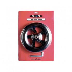 Black Wheel 200 mm Scooter Micro Black - Micro Spare Part
