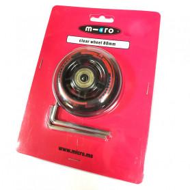 Roue arrière 80 mm pour trottinettes Mini et Maxi Micro Deluxe - Pièce de rechange Micro