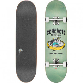 Skateboard Concrete Dreams Mid Breeze Green - 7.6""