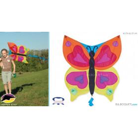 Cerf-volant enfant Papillon arc-en-ciel