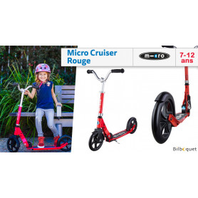 Micro Cruiser red - Trottinette 7-12 years