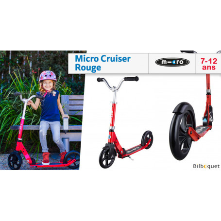 Micro Cruiser rouge - Trottinette 7-12 ans