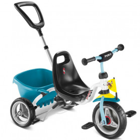 Tricycle CAT 1S white and turquoise - Learning Bike