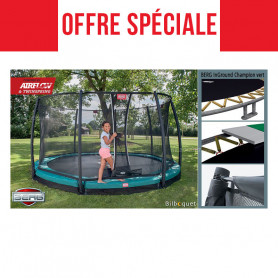 BERG Trampoline InGround Champion + Safety Net Deluxe
