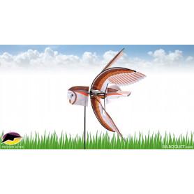 Eolienne décorative Oiseau Chouette-effraie