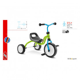 Tricycle Puky Fitsch® - bleu/vert - dès 18 mois