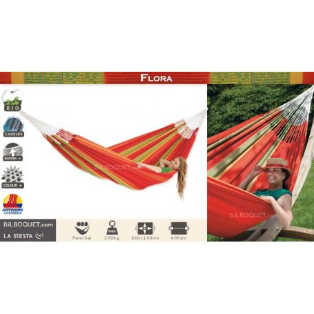 Hamac Familial Flora Rouge (coton bio)