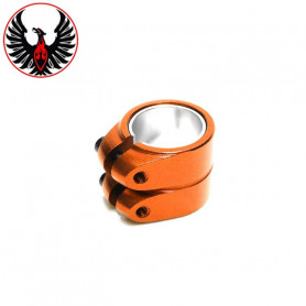 Collier de serrage 2 Vis Smooth Orange
