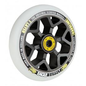 Roue Hardline x6 110 mm snowballs Noir /Blanc - Eaggle Supply