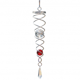 Spirale Acier Inoxydable Médium Crystal Twister Rouge - Colours In Motion