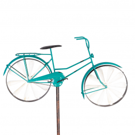 Eolienne Métal bicyclette Turquoise - Colours In Motion