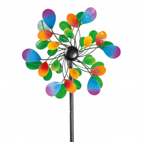 Eolienne Metal Peint Kinetic Drops - Colours In Motion