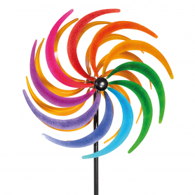 Eolienne Metal Peint Kinetic Sichelrad - Colours In Motion