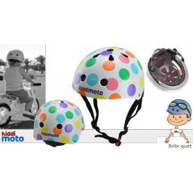 Casque vélo enfant à pois pastel - Taille S (2-5 ans)
