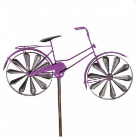 Eolienne Métal bicyclette Violette - Colours In Motion