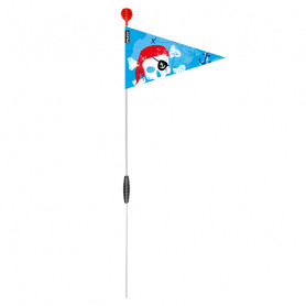 Blue Foldable safety pennant - Pirate head