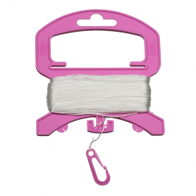 Polyester 10kg / 40m on handle with pink clip