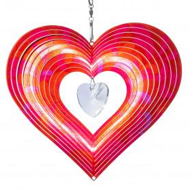 Stainless steel pendant lamp Rainbow Crystal Heart