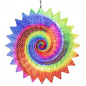 Rainbow Vortex stainless steel pendant light
