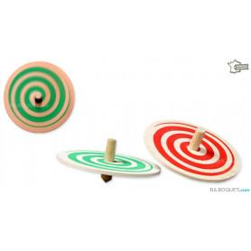 Toupie spirale en bois