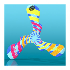 Boomerang en mousse Drift spirale colorée pour droitier