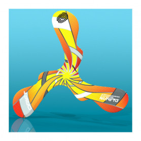 Boomerang en mousse Drift spirale orange pour gaucher