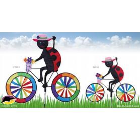 Eolienne décorative Bicyclette coccinelle