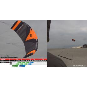 Paraflex Trainerkite Voile 4 lignes avec barre de contrôle