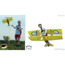 Avion Biplan Sopwith Camel Cerf-volant enfants