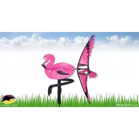 Eolienne oiseau flamant rose