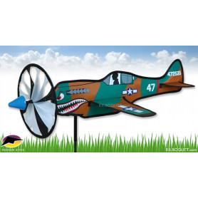Eolienne décorative Avion P-40 Warhawk