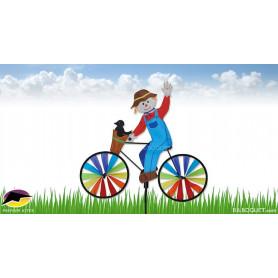 Epouvantail à vélo Eolienne décorative