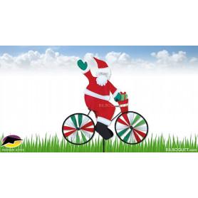 Père Noël à vélo Eolienne décorative