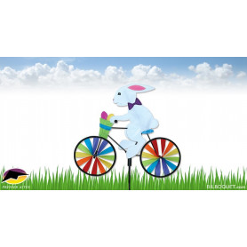 Lapin à vélo Eolienne de jardin