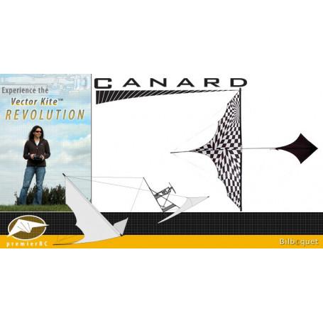 Canard Vector Kite Gen I Series avec moteur - Op-Art Black