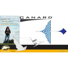 Canard Vector Kite Gen I Series avec moteur - Op-Art Bleu