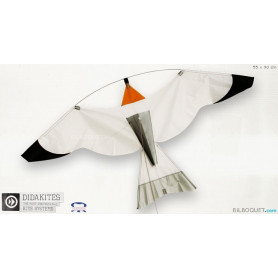 Oiseau gris Cerf-volant effaroucheur