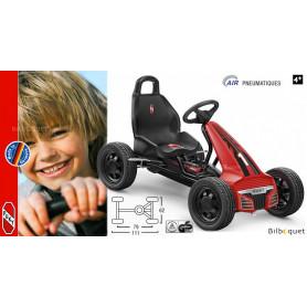 Go-Kart à pédales F550L noir et rouge