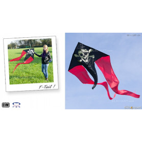 F-Tail Pirate Cerf-volant monofil enfant