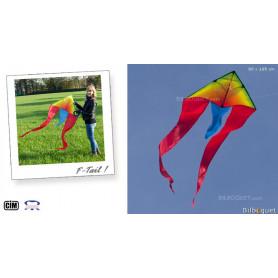 F-Tail Arc-en-ciel Cerf-volant monofil enfant