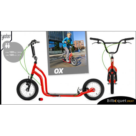 OX II Trottinette Fun pour ados/adultes - RED/BLACK